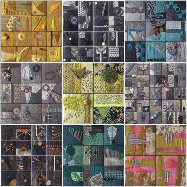 200 Collage broderier